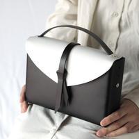 [style&things]  ori box bag slim #black x white