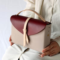 [style&things]  ori box bag slim #greige x wine x beige