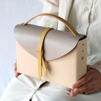 [style&things]  ori box bag slim #beige x greige x karashi