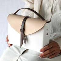 [style&things]  ori box bag slim #white x beige x D.gray