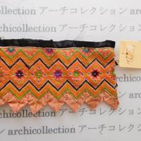 Hmong モン族 はぎれno.281  8.5x4 cm 刺繍布 古布 山岳民族 hilltribe ラオス タイ