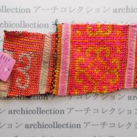 Hmong モン族 はぎれno.223  21x10 cm 刺繍布 古布 山岳民族 hilltribe ラオス タイ