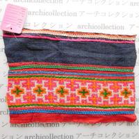 Hmong モン族 はぎれno.135  21x14 cm 刺繍布 古布 山岳民族 hilltribe ラオス タイ