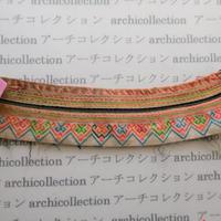 Hmong モン族 はぎれno.200  25x6 cm 刺繍布 古布 山岳民族 hilltribe ラオス タイ