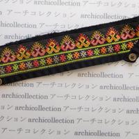 Hmong モン族 はぎれno.251  7x29 cm 刺繍布 古布 山岳民族 hilltribe ラオス タイ