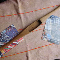 織り 織機 シャトル 杼 使用可 ストアーズno.15  100 g  全長44巾3.3高2.4 内径長8巾2.8深1.7cm shuttle 木製 オールド