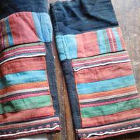 STORES アカ族 ソックス脚絆NO. 11 上部口26x長さ31x下部口30cm タイ ミャンマー北部山地岳 民族衣装 本物 手仕事 刺繍