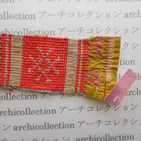Hmong モン族 はぎれno.156  17x7 cm 刺繍布 古布 山岳民族 hilltribe ラオス タイ