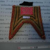 モン族の胸襟飾りWING型 no.19  19x17 cm  Hmong embroidery needlework はぎれ ラオス タイ