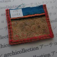 モン族の襟飾り no.75  11x9.5 cm  Hmong embroidery needlework はぎれ ラオス タイ