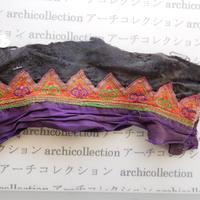 Hmong モン族 はぎれno.254  23x8 cm 刺繍布 古布 山岳民族 hilltribe ラオス タイ