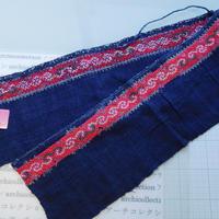 モン族のスカートのボーダー布 no.31  16 x90-100cm 麻布混 Hmong embroidery needlework はぎれ ラオス タイ
