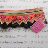 Hmong モン族 はぎれno.85 16x6 cm 刺繍布 古布 山岳民族 hilltribe ラオス タイ