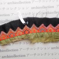 Hmong モン族 はぎれno.227  12x9 cm 刺繍布 古布 山岳民族 hilltribe ラオス タイ