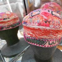 ウズベキスタン ウズベク族UZBEK WOMEN'S CAP59 刺繍女性用帽子55h10cm