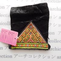 Hmong モン族 はぎれno.80  10x7 cm 刺繍布 古布 山岳民族 hilltribe ラオス タイ