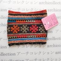 Hmong モン族 はぎれno.187  10x9 cm 刺繍布 古布 山岳民族 hilltribe ラオス タイ