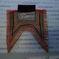 モン族の胸襟飾りWING型 no.16  21x19.5 cm  Hmong embroidery needlework はぎれ ラオス タイ