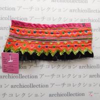 Hmong モン族 はぎれno.76  17x8 cm 刺繍布 古布 山岳民族 hilltribe ラオス タイ