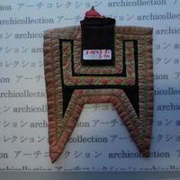 モン族の胸襟飾りWING型 no.1  18.5x14.5 cm  Hmong embroidery needlework はぎれ ラオス タイ