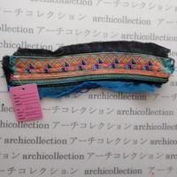 Hmong モン族 はぎれno.73  22x6 cm 刺繍布 古布 山岳民族 hilltribe ラオス タイ