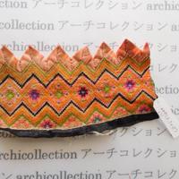 Hmong モン族 はぎれno.271  8.5x15 cm 刺繍布 古布 山岳民族 hilltribe ラオス タイ