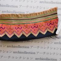Hmong モン族 はぎれno.252  9.5x21 cm 刺繍布 古布 山岳民族 hilltribe ラオス タイ