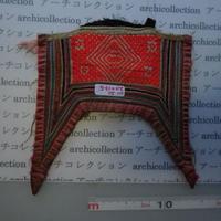 モン族の胸襟飾りWING型 no.20  20x19.5 cm  Hmong embroidery needlework はぎれ ラオス タイ