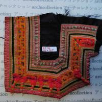 モン族の胸飾り no.12  21x25 cm  Hmong embroidery needlework はぎれ ラオス タイ