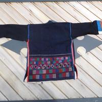 ハニ族ジャケットstores.NO.7 アカ族 中国 雲南省 タイ ミャンマー北部山地岳 民族衣装 本物 手仕事 刺繍