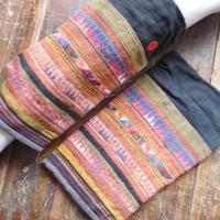 STORES アカ族 ソックス脚絆NO. 21 上部口32x長さ28x下部口28cm タイ ミャンマー北部山地岳 民族衣装 本物 手仕事 刺繍