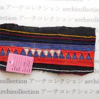 Hmong モン族 はぎれno.136  19x9 cm 刺繍布 古布 山岳民族 hilltribe ラオス タイ