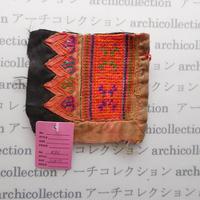 Hmong モン族 はぎれno.46  11x10 cm 刺繍布 古布 山岳民族 hilltribe ラオス タイ