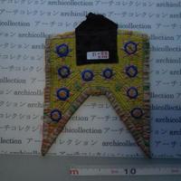 モン族の胸襟飾りWING型 no.6  22x18 cm  Hmong embroidery needlework はぎれ ラオス タイ
