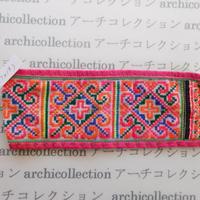 Hmong モン族 はぎれno.268  7x19 cm 刺繍布 古布 山岳民族 hilltribe ラオス タイ