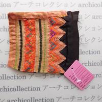 Hmong モン族 はぎれno.44  12x10 cm 刺繍布 古布 山岳民族 hilltribe ラオス タイ