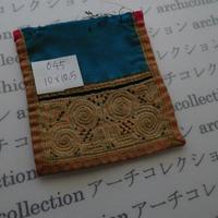 モン族の襟飾り no.45 10x10.5 cm  Hmong embroidery needlework はぎれ ラオス タイ