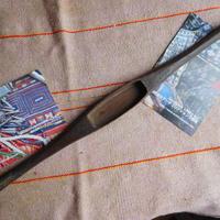 織り 織機 シャトル 杼 使用可 ストアーズno.4  60 g  全長42巾3.3高2.2 内径長8.4巾2.8深1.7cm shuttle 木製 オールド