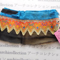 Hmong モン族 はぎれno.90  19x7 cm 刺繍布 古布 山岳民族 hilltribe ラオス タイ