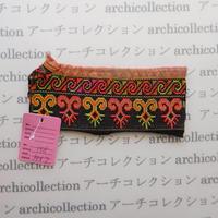 Hmong モン族 はぎれno.158  14x7 cm 刺繍布 古布 山岳民族 hilltribe ラオス タイ