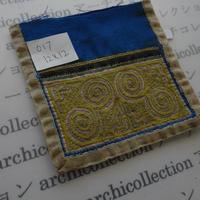 モン族の襟飾り no.17  12x12 cm  Hmong embroidery needlework はぎれ ラオス タイ