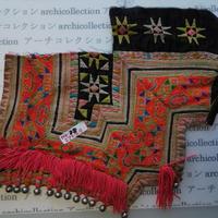モン族の胸飾り no.18  27x29 cm  Hmong embroidery needlework はぎれ ラオス タイ