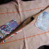 織り 織機 シャトル 杼 使用可 ストアーズno.13  100 g  全長51巾3.4高2.8 内径長7.4巾2.5深1.8cm shuttle 木製 オールド