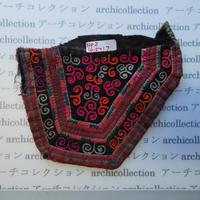 モン族の胸飾り no.2  16.5x17 cm  Hmong embroidery needlework はぎれ ラオス タイ