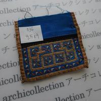 モン族の襟飾り no.36  9.5x9 cm  Hmong embroidery needlework はぎれ ラオス タイ