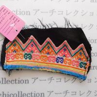 Hmong モン族 はぎれno.225  13x7 cm 刺繍布 古布 山岳民族 hilltribe ラオス タイ