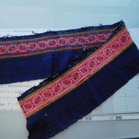 モン族のスカートのボーダー布 no.37  16  x90-100cm 麻布混 Hmong embroidery needlework はぎれ ラオス タイ