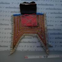 モン族の胸襟飾りWING型 no.17  19x17 cm  Hmong embroidery needlework はぎれ ラオス タイ