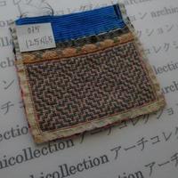 モン族の襟飾り no.35 12.5x12.5 cm  Hmong embroidery needlework はぎれ ラオス タイ