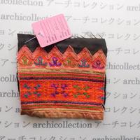 Hmong モン族 はぎれno.47  12x11 cm 刺繍布 古布 山岳民族 hilltribe ラオス タイ